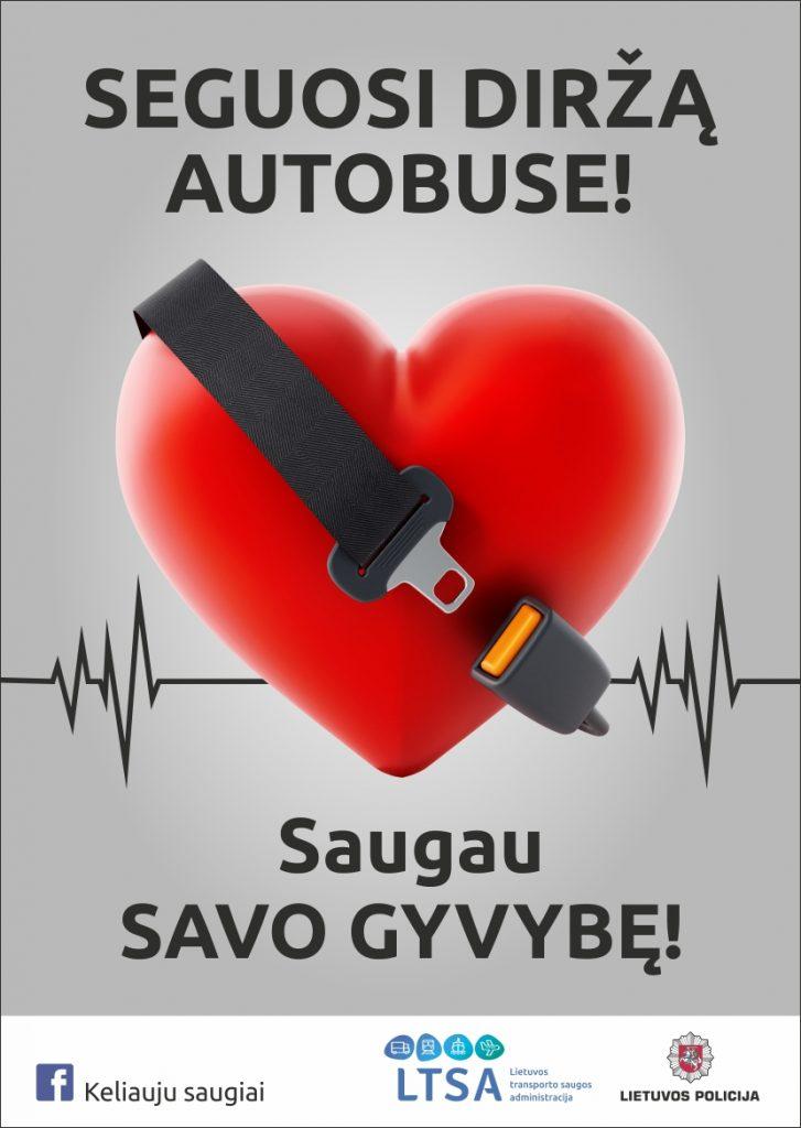 Seguosi diržą autobuse - saugau savo gyvybę!